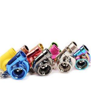 회전 슬리브 베어링 짧은 정상 터보 터빈 키 체인 열쇠 고리 열쇠 고리 늘어 뜨린 금속 (사운드 없음) 드롭 배송