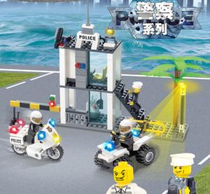 City Police Station Caminhão Definir Technic Carring Blocks Mini Tijolos Figura Brinquedos Para Crianças Meninos Educação Presente Cognitivo 03