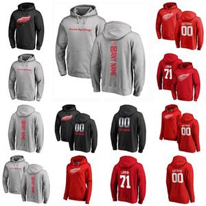 Detroit Red Wings Pull Sweat à capuche Tyler Berttuzzi Dylan Larkin Gordie Howe Niklas Kronwall Anthony Mantha Hockey Sweatshirts Custom