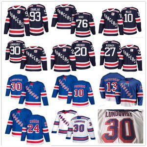 NY New York Rangers 13 Alexis Lafreniere 24 Kaapo Kakko Artemi Panarin 30 Henrik Lundqvist McDonagh Nash Skjei Mika Zibanejad los jerseys del hockey