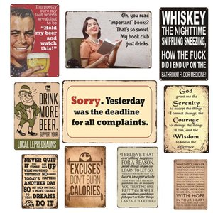 Warning No Stupid People Toilet Kitchen Bathroom Family Rules Bar Pub Cafe Home restaurant Decoratio Vintage Tin Signs Retro Metal tin Sign