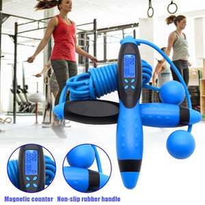 Adjustable rope skipping digital counter fitness rope training machine indoor boxing equipment for women