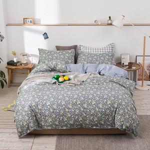2021new bedding set colorful duvet cover set pastoral flat sheet modern bed linen flower pillowcase AB side bed 3 4pcs