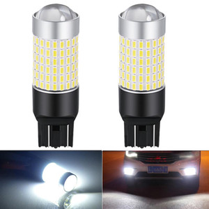 2X 7443 7440 T20 LED Bulb Super bright Car Daytime Running Light Back up Lamp For Kia Sportage R Ceed Rio 3 4 K2 K5 KX5 white