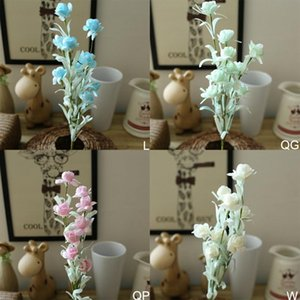 Simulation Snowflake Bud Plastic Fake Flower Home Decor Flower For Party Supplies Wedding Decor