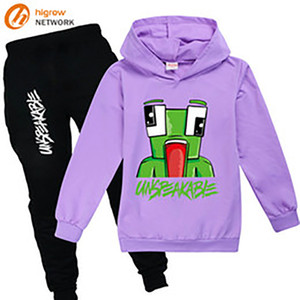 fashion kid hoodie sweatshirt pants set pop games UNSPEAKABLE set for 2-16years child boys girls clothes set outerwear