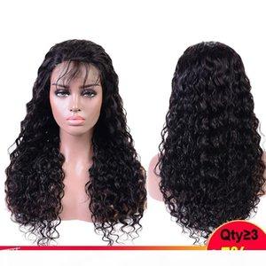 U 부분 가발 브라질 물 웨이브 레이스 프론트 인간의 머리 가발 4 * 4 Pre 뽑아 150 % 레미 Perruque Cheveux Humain Bresiliens