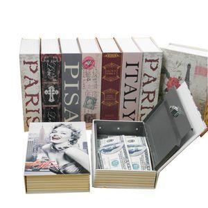متوسط الصفحة الرئيسية قاموس الأمن مفتاح كتاب آمن / قفل صندوق / تخزين / البنك أصبع البنك الإبداعية مربع المال الملحقات المنزلية 17.7x11.2x5.2cm LJ200812