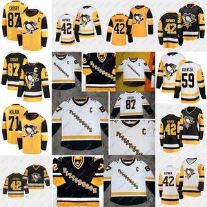 2020-21 Restarro Sidney Crosby Jersey 피츠버그 펭귄 제이크 괌 Evgeni Malkin Phil Varone Bryan Rust Kris Letang Casey Desmith
