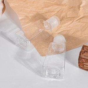 Bouteille en plastique pour animaux de compagnie de sanitizérisseur de mains de 30 ml avec bouteille de forme trapézoïdale de capuchon pour la maquillage Échantillon liquide désinfectant HWF2633