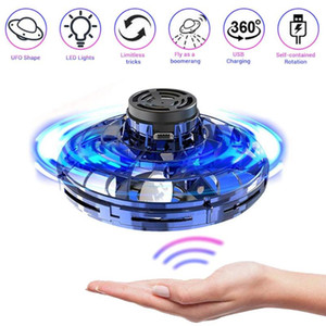 ZK20 Helicopter Free Course Fingertip Gyro Sensor Nail Spinner Motion Sensor Drone UFO Helicopter Flying Top kids Gifts