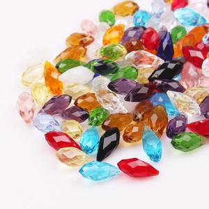 6 * 12 MM Pequeñas Perlas de Cristal de Lágrima 100 unids / lote Transparente Blanco Cristal Perlas de Cristal Para La Joyería Collar DIY que hace