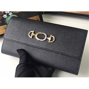 ZUMI Long Luxury Wallet New Womens Wallet Designer Wallet Interlock Letter Luxury Purse Original Box Lady Purse