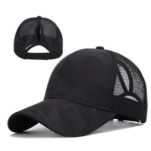 2020 Mode Frauen Pferdeschwanz Baseball Hut für Mädchen Sommer Mesh Atmungsaktives Loch Retro Shiny Sports Einstellbare Visierkappe Sun Hüte H SQCNTQ