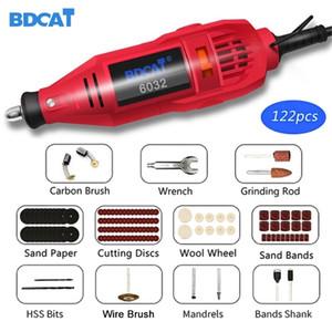 BDCAT 180W Mini Grinder Hand Drill Power Tools Electric Mini Drill Polishing Machine with Rotary Tool Dremel Accessories Kit Set 201225