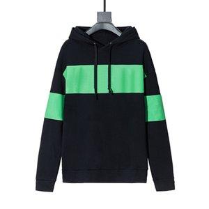 2020FW 레드 그린 라인 까마귀 망 까마귀 고품질 느슨한 맞는 남자 힙합 후드 스웨터 크기 XS-L