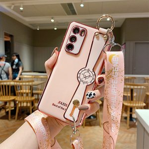 Mobile phone case suitable for iP 12Promax electroplating 6D mobile phone case 12 wrist strap bracket XS diagonal lanyard protective cover