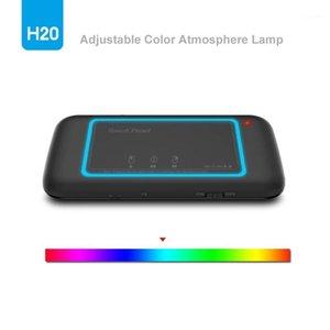 H20 Mini Kablosuz Klavye Arka Işık TouchPad Air Mouse IR Bükülmüş Uzaktan Kumanda için Andorid Kutusu Akıllı TV Windows PK H18 Plus1