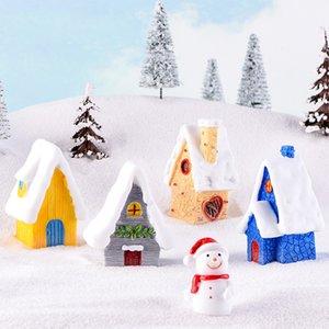 Schneehaus Weihnachten Spielzeug Anzeige europäischen Stil Haus Süßigkeiten Farbe Villa kreative Weihnachtsdekoration Weihnachtsgeschenke T3I51294