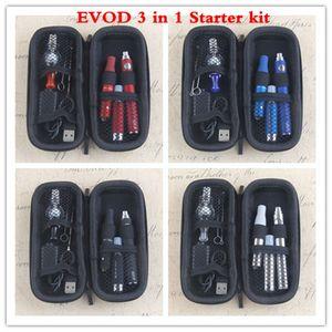 2020 Hot 3 in 1 Vaporizer Kit MT3 510 Evod Batteries Vape Pen for Vapor Ago Dry Herb Glass Dome Wax Starter Kits