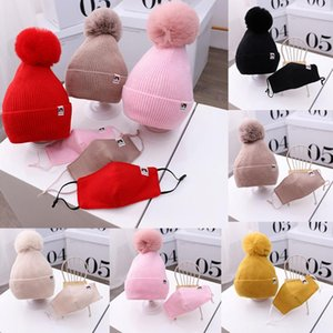 Christmas Party Decoration For Face Toddler Kids Baby Boys Girl Pompon Hat Winter Warm KniCap Christmas Mask