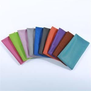 Fast Cooling الرياضة منشفة الباردة شعور يمسح العرق متعدد الألوان غسل القماش الصالة الرياضية اليوغا واضحة التعرق المناشف جديد 1 1zh L2