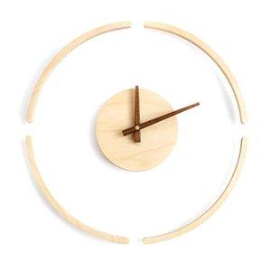 Bestsuspension Wall Clock Simple Wooden Sanging Reloj Creativo Silent Decor Wall Decorativa Decoración