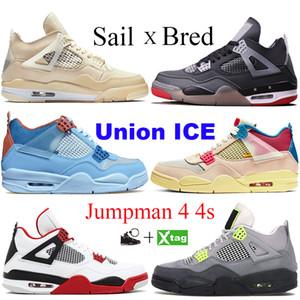 Top 4 4s Hommes Chaussures De Basket-ball Nouveau Blanc Laser Noir Cat Thunder Bleu Militaire 2019 Chaussures De Sport De Sport Sneakers Taille 7-13