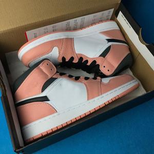 새로운 Jumpan 농구 신발 1 중간 핑크 쿼츠 PINK 석영 DARK 연기 GRAY WHITE 골프 테니스 신발 남성 디자이너 트레이너 Schoenen의
