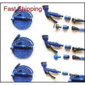 3x Expandable Magic Flexible Water Hose With 7in1 Spray Gun Nozzle 25ft 50ft 75ft 100ft 125ft Irrigation Sys qylhtn hairclippersshop
