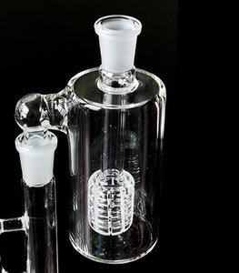 Clear Ash Catcher Barrel Perc Percolator Ash Catchers 14mm 18mm Glass Bottle Ashcatcher For Bong Waterpipe