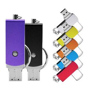 USB Flash Drive 2.0 Metal Pen Drive Memory Stick Pendrive Flashdrive U Disk 4GB 8GB 16GB 32GB free Custom Logo