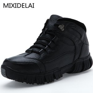 MIXIDELAI super warme echtes Leder-Winter-Militärpelzstiefel für Männer Schuhe Schuhe Hombre 201019