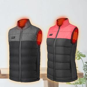 Winter Heating vest men Down vest sleeveless Heated cotton Jacket USB electric thermal heating Waistcoat Outdoor hiking Jacket