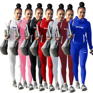 Fashion Women CHAMP Tracksuit Autumn Winter Printed Loose Sportswear Tops + Pants Two Piece Set Women Casual Tracksuits Outfits Clothes Sale