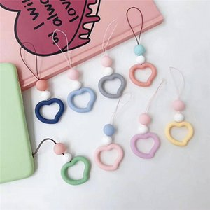 Silicone ins little love ring hand rope short rope mobile phone accessories creative general anti Drop Pendant