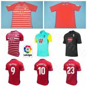 2020 2021 Granada Soccer Jersey 24 FERNANDEZ 10 PUERTAS 11 machis 9 SOLDADO 16 VICTOR DIAZ 19 MONTORO 22 DUARTE Futebol shirt Kits