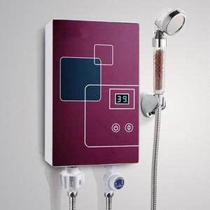 6000W instantáneo sin tanque eléctrico calentador de agua caliente cocina grifo calefacción rápido grifo ducha calentadores regaderos de baño LED de baño