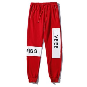 Sales 21ss popular style Fashion Women's Clothing Embroidery Active Pants men Capris Black and red classic Apparel Free shipping