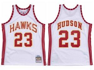 MenAtlantaHawks Hudson Mitchell & Ness Teal Road 1972-73 Hardwoods Classics white Authentic Jersey