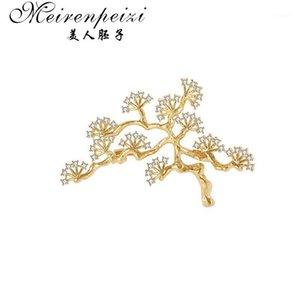 MeiRenpeizi старинные сосновые брошь Дерево ветвь FAUX Corsage Pin Торговля женские Ювелирные Изделия Броши Ювелирные Изделия Мода Teardrop Broooch1