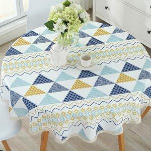 الطاولة الريفية الجدول القماش القطن الكتان تناول الطعام مزينة نمط البحر الأبيض المتوسط يمكن غسل زيت مفارش ومياه