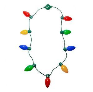 Christmas Special LED 9 Light light-Emitting Necklace Festival Atmosphere Rendering Props Flash Series Light Bulb KTV Party Props HWC2954