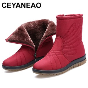 CEYANEAO New Women Luxury waterproof Boots Mar Ankle Boots New Autumn Winter Embroider Womens Motorcycle Boots E764201103