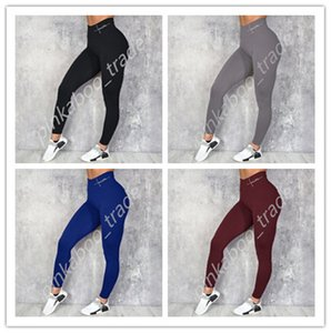 Women's High Waist Yoga Pants Sports Gym Legging Tight-Fitting Sweatpants Elastic Trendy Ladies Skinny Tights Trousers S-XL Free Ship LY318