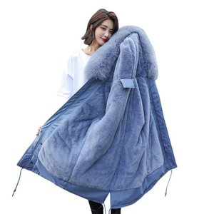 Thickened Slim Long Cotton Ladies Parka Down Jacket Women 2020 Winter Coat