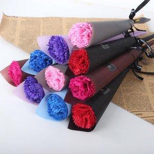 Envío rápido Real Touch Rose Simulada Falta Látima Rosas 43 cm Largos 12 Colores para Fiesta de boda Flores decorativas artificiales