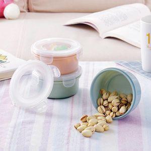 Venta al por mayor Mini Refrigerador Crisper Caja de comida sólida Caja de Crisper Redonda Refrigerador Alimentos de plástico Cajas de almacenamiento de alimentos Herramientas de cocina BWF2788