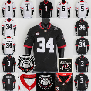 Georgia Bulldogs Football Jersey Herschel Walker Todd Gurley II Nick Chubb Jake Fromm d'Andre Swift Hines Ward David Pollack Roquan Smith A.j. Greene Champ Bailey.