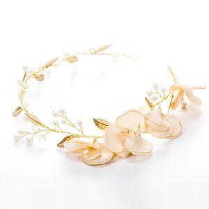 Mulheres Liga Folha Folha Faixa de Cabelo Tecido Arte Acessórios Do Casamento Noiva Cabelos Clasp Forma Venda Bem Com Cor Golden 10 5nh J1
